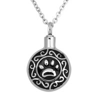 Pawprint Cremation Jewelry Memorial Ash Keepsake Funnel Pendant Necklace
