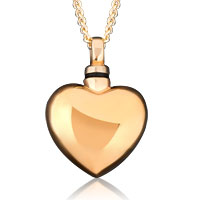 Cremation Urn Gold Heart Ash Holder Necklace Jewelry Ashes Memorial Pendant