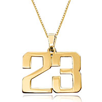 Custom Necklace 18 K Gold Plated 925 Sterling Sliver Number For Men Custom Made