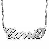 Fashion Custom Name Necklace 925 Sterling Silver Custom Made Sterling Silver Pendant