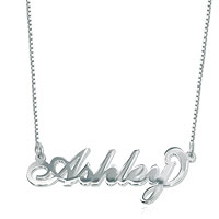 Name Necklace 925 Sterling Silver Ashley Custom Made 18 New Sterling Silver Pendant