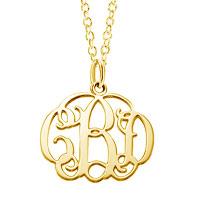 925 Sterling Silver Dangle Monogram Custom Made Any Letter Pendant Necklace
