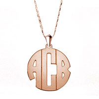 Monogram Necklace Xxl Large Statement Block Custom Made Initial Necklace