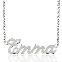 Name Necklace 925 Sterling Silver Lobster Middle Custom Made Pendant Sterling Silver Pendant