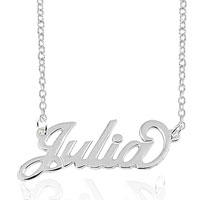 925 Sterling Silver Personalized Name Necklace 14 Custom Made With Any Name Sterling Silver Pendant