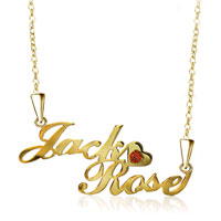 Name Necklace 18 K Gold 925 Sterling Sliver Heart Custom Made P1 Sterling Silver Pendant