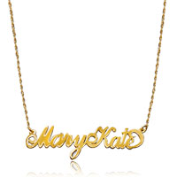 Name Necklace 18 K Gold 925 Sterling Silver Couples Names Custom Made