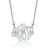 925 Sterling Silver Monogram Letter Custom Made Any Letter Necklace Pendant Sterling Silver Pendant
