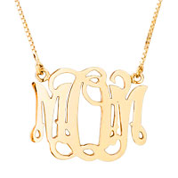 925 Sterling Silver Gold Plated Personalized Mom Mother Family Member Custom Name Necklace