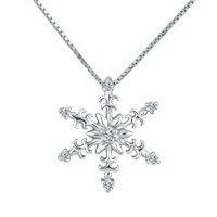 925 Sterling Silver Winter Snowflake Cz Crystal Pendant Necklace 18 Sterling Silver Pendant