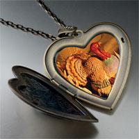 Necklace & Pendants - november topaz color turkey large photo heart locket pendant necklace Image.