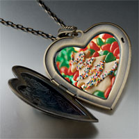Necklace & Pendants - christmas heart locket pendants christmas tree gifts cookie halloween candy large photo heart locket pendant necklace Image.