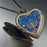 Necklace & Pendants - hanukkah gifts large photo heart locket pendant necklace Image.