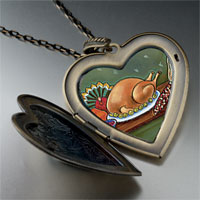 Necklace & Pendants - thanksgiving food large photo heart locket pendant necklace Image.