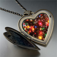 Necklace & Pendants - christmas lights large photo heart locket pendant necklace Image.