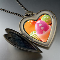 Necklace & Pendants - easter eggs large photo heart locket pendant necklace Image.