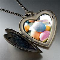 Necklace & Pendants - bowl easter eggs photo heart locket pendant necklace Image.