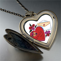Necklace & Pendants - valentines large photo heart locket pendant necklace Image.