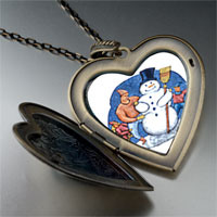 Necklace & Pendants - heart locket pendants building a christmas gifts snowman large photo heart locket pendant necklace Image.
