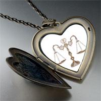 Necklace & Pendants - law scales large photo heart locket pendant necklace Image.