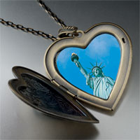 Necklace & Pendants - statue liberty photo large heart locket pendant necklace Image.