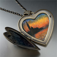 Necklace & Pendants - monet' s san giorgio maggiore large photo heart locket pendant necklace Image.