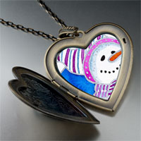Necklace & Pendants - heart locket pendants striped hat christmas gifts snowman large photo heart locket pendant necklace Image.