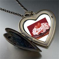 Necklace & Pendants - chocolate cupcake love large photo heart locket pendant necklace Image.