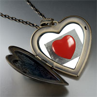Necklace & Pendants - red heart large photo heart locket pendant necklace Image.