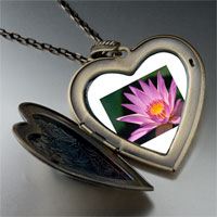 Necklace & Pendants - yellow pink flower large photo heart locket pendant necklace Image.