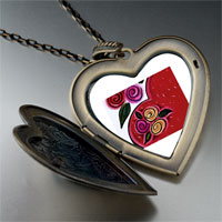 Necklace & Pendants - heart flowers large photo heart locket pendant necklace Image.