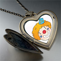 Necklace & Pendants - clown face large photo heart locket pendant necklace Image.