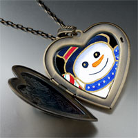 Necklace & Pendants - heart locket pendants christmas gifts snowman halloween candy cane large photo heart locket pendant necklace Image.