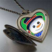 Necklace & Pendants - heart locket pendants halloween candy cane christmas gifts snowman large photo heart locket pendant necklace Image.