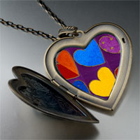 Necklace & Pendants - hearts large photo heart locket pendant necklace Image.