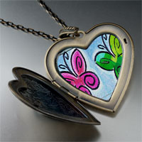 Necklace & Pendants - butterfly times large photo heart locket pendant necklace Image.
