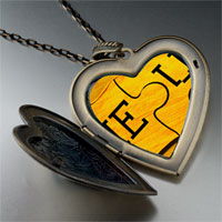 Necklace & Pendants - puzzle large photo heart locket pendant necklace Image.