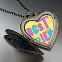 Necklace & Pendants - best friends colorful large photo heart locket pendant necklace Image.