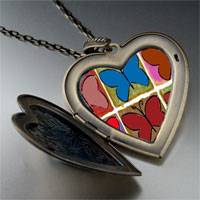 Necklace & Pendants - colorful butterfly print large photo heart locket pendant necklace Image.