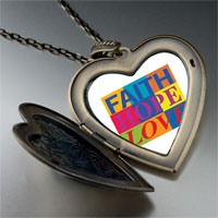 Necklace & Pendants - faith hope love photo large heart locket pendant necklace Image.