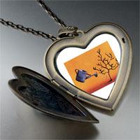 Necklace & Pendants - water tree large photo heart locket pendant necklace Image.