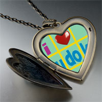 Necklace & Pendants - i heart sudoku large photo heart locket pendant necklace Image.