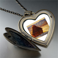 Necklace & Pendants - monet wheatstack large photo heart locket pendant necklace Image.