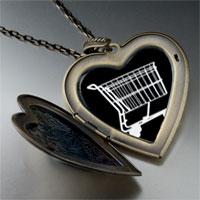 Necklace & Pendants - shopping cart large photo heart locket pendant necklace Image.