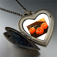 Necklace & Pendants - jack o lantern halloween pumpkin toys heart and flower pendant Image.