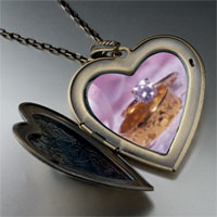 Necklace & Pendants - wedding ring large heart locket pendant necklace Image.