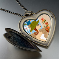 Necklace & Pendants - flower shopping large heart locket pendant necklace Image.
