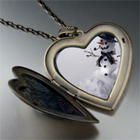Necklace & Pendants - heart locket pendants happy christmas gifts snowman black large heart locket pendant necklace Image.