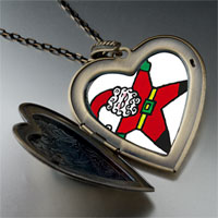 Necklace & Pendants - snow angel santa large heart locket pendant necklace Image.