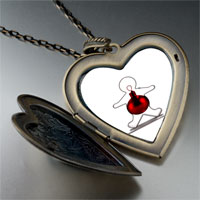 Necklace & Pendants - gingerbread man christmas ornament large heart locket pendant necklace Image.